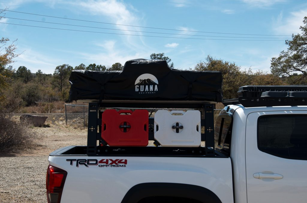 Toyota Tacoma with Guana Equipment RTT on Bed Rack