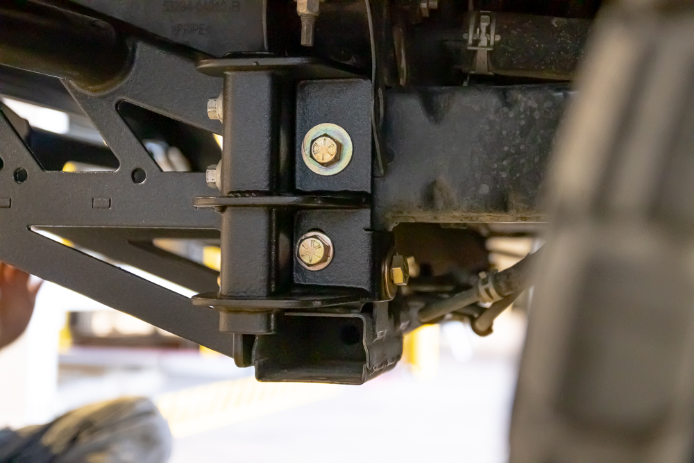 Bay Area Metal Fabrication Frame Support Brackets on 3rd Gen Tacoma