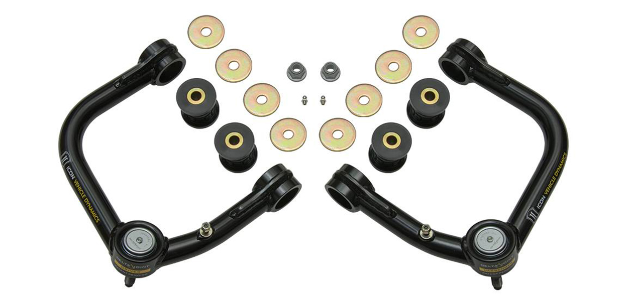 Icon Vehicle Dynamics Tubular Delta Joint Upper Control Arms (UCAs) for 2nd & 3rd Gen Tacoma
