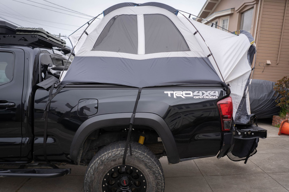 Universal Truck Bed Tent Mounted on Long Bed 3rd Gen Toyota Tacoma