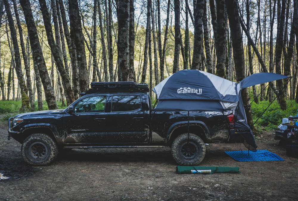 Offroading Gear Granville II Universal Truck Bed Tent Mounted on 3rd Gen Toyota Tacoma