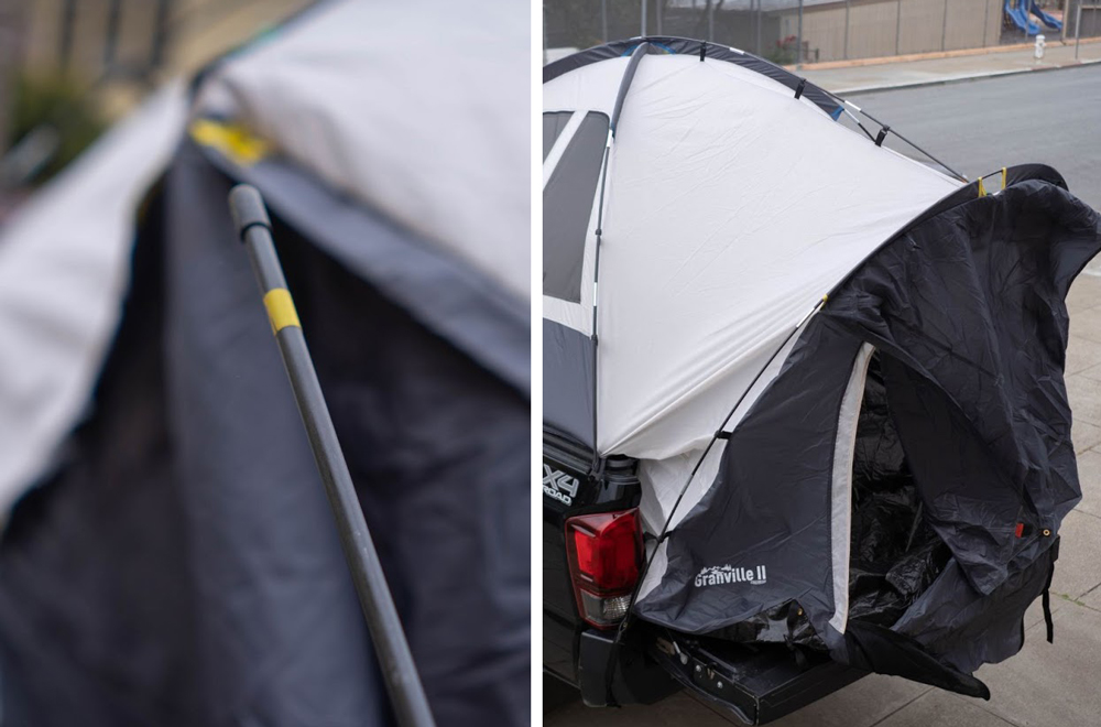 Offroading Gear Universal Truck Tent - Yellow Tent Pole Install