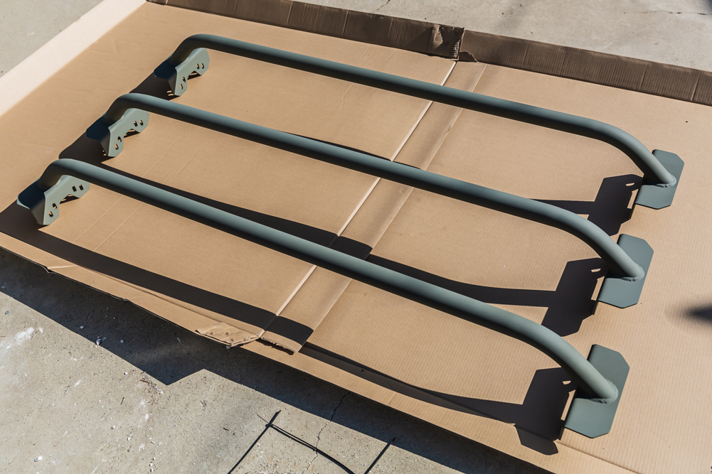 Rustoleum Self Etching Primer Coated Bed Cargo Cross Bars for Toyota Tacoma