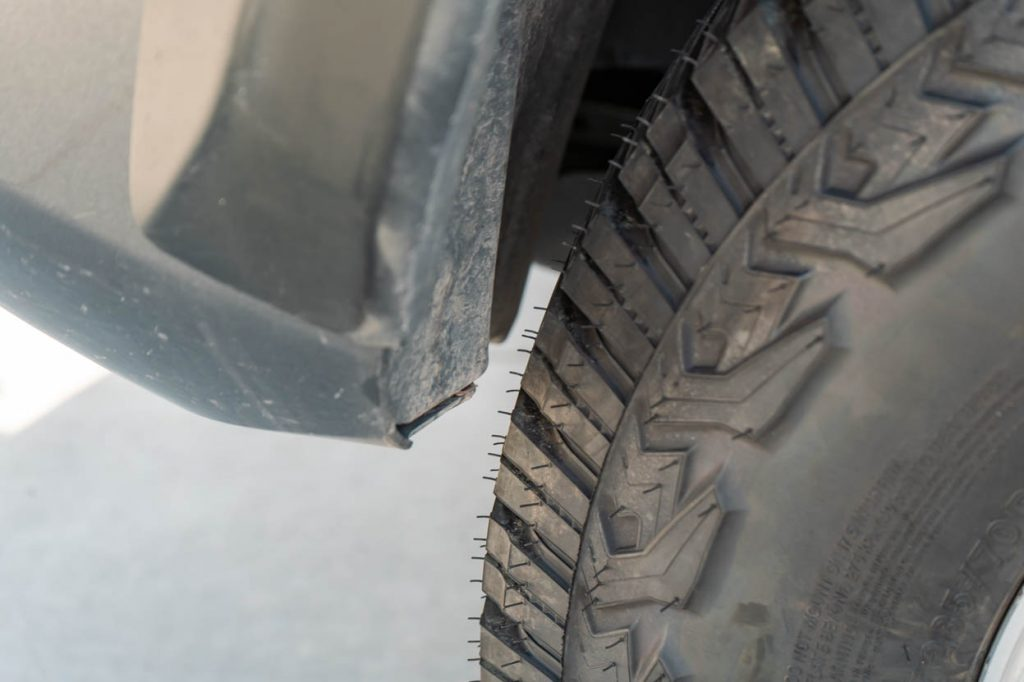 Front Fender Liner Rubbing with Larger Tires on 3rd Gen Tacoma