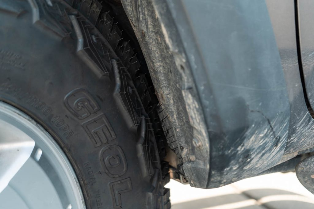 3rd Gen Tacoma 33-Inch Tires Rubbing on Firewall