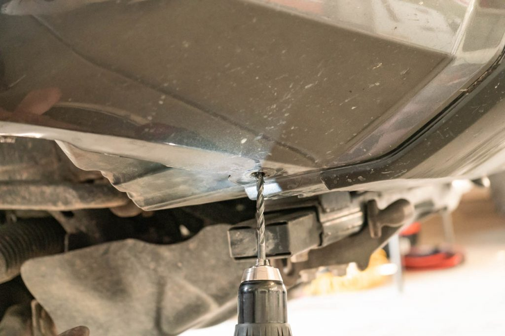 Drilling Hole in Toyota Tacoma Front Bumper for Fender Liner Pushback