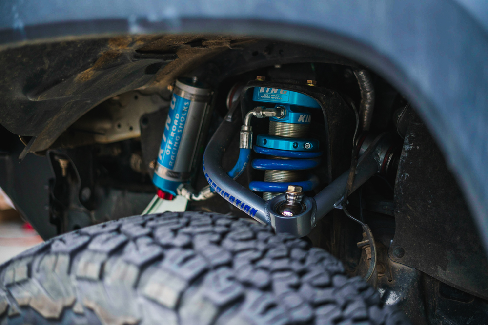 Total Chaos Uniball Upper Control Arm (UCA) & King Coilover with Adjustable Remote Reservior - 3rd Gen Tacoma