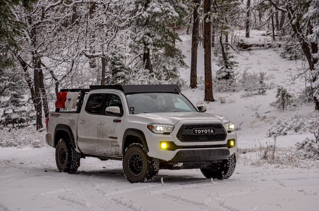3rd Gen Tacoma with AL Offroad Roof Rack & Hobbs Off-road Bed Rack