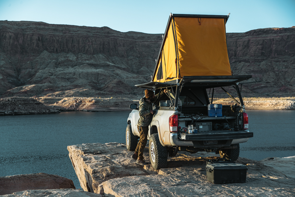 Lifted Access Cab 3rd Gen Tacoma with GFC Wedge Camper