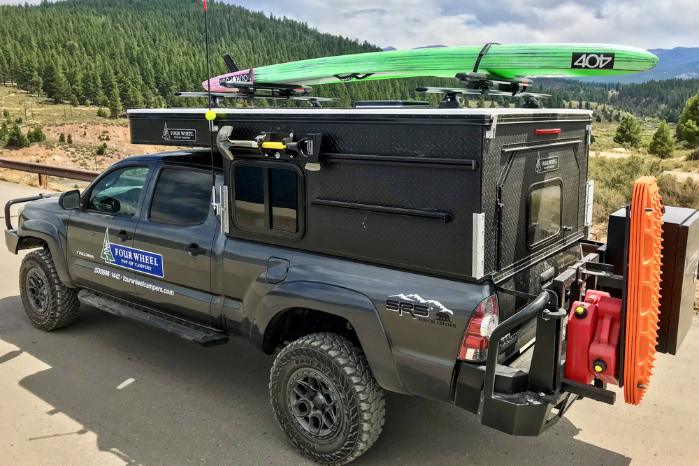 Lifted 2nd Gen Toyota Tacoma with Four Wheel Pop-Up Campers
