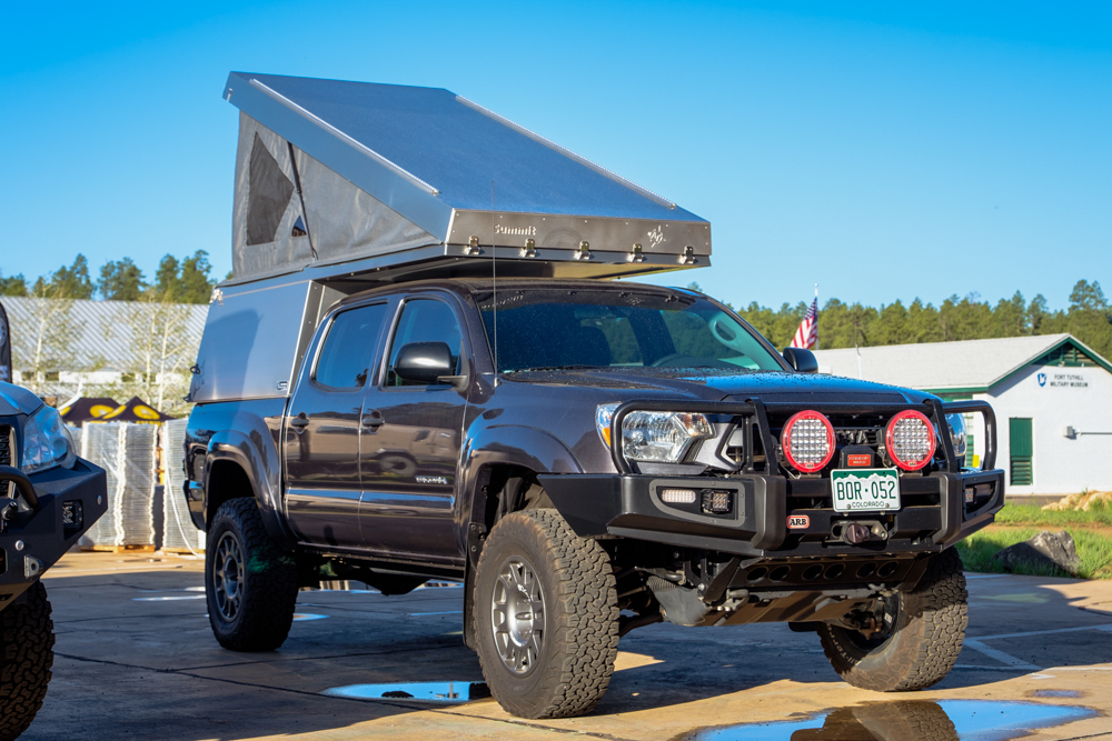 Lifted 2nd Gen Tacoma with ARB Front Bumper & AT Overland Summit Camper