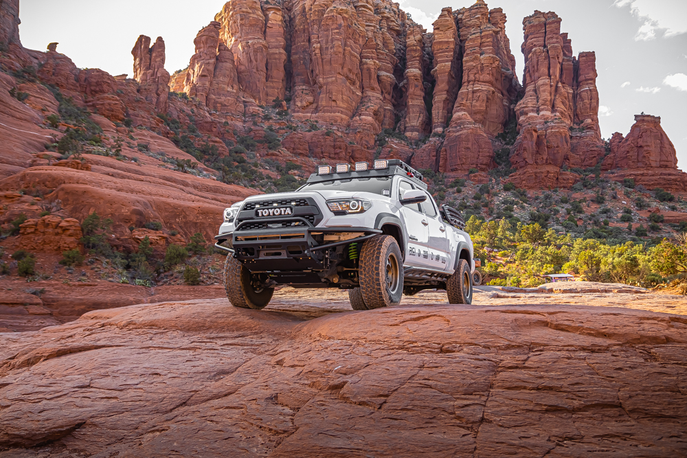 Lifted 3rd Gen Tacoma with Ironman 4X4 LED Lights & Aftermarket Steel Front Bumper