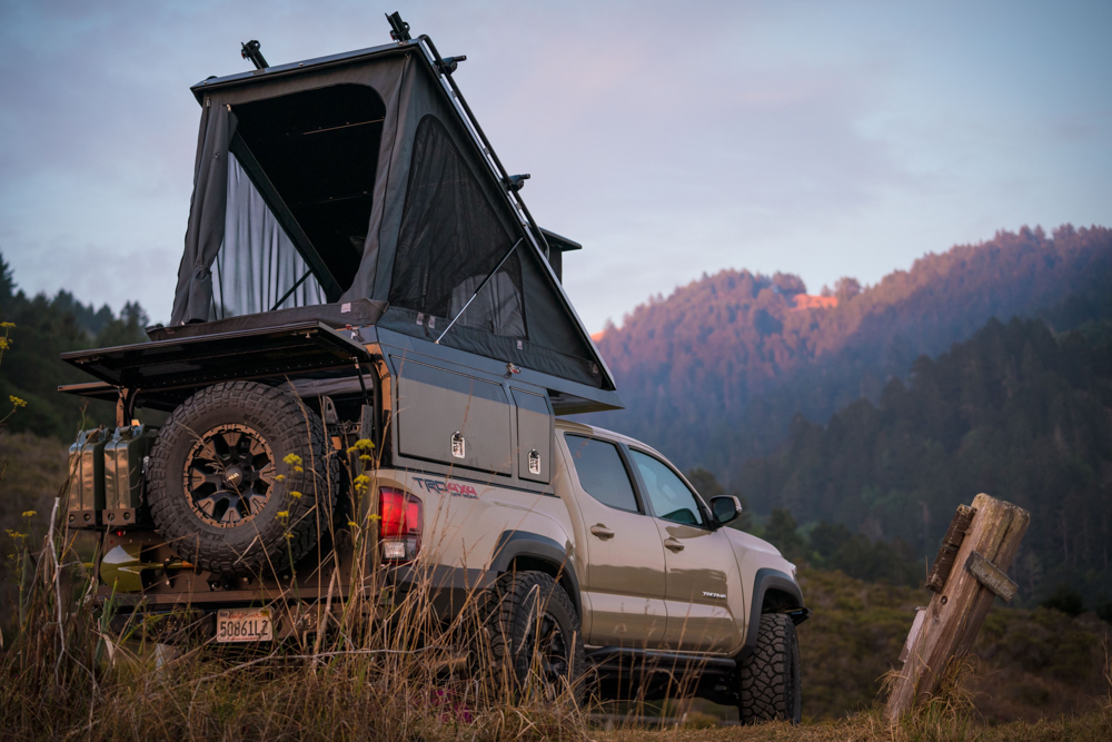 Lifted 3rd Gen Toyota Tacoma with TrailFort TF Alpha Camper