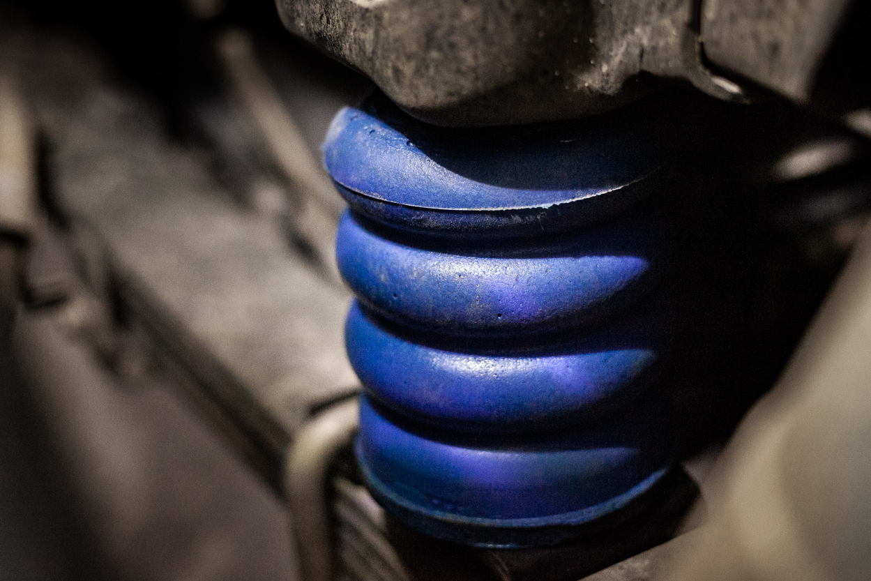 Blue 1400lb SuperSprings SumoSprings Rear Bump Stops for 3rd Gen Tacoma