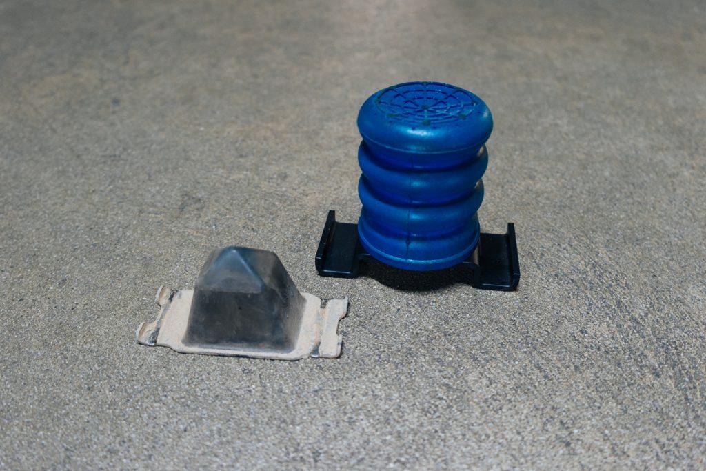 Factory Rear Bump Stop VS Blue SuperSprings SumoSpring
