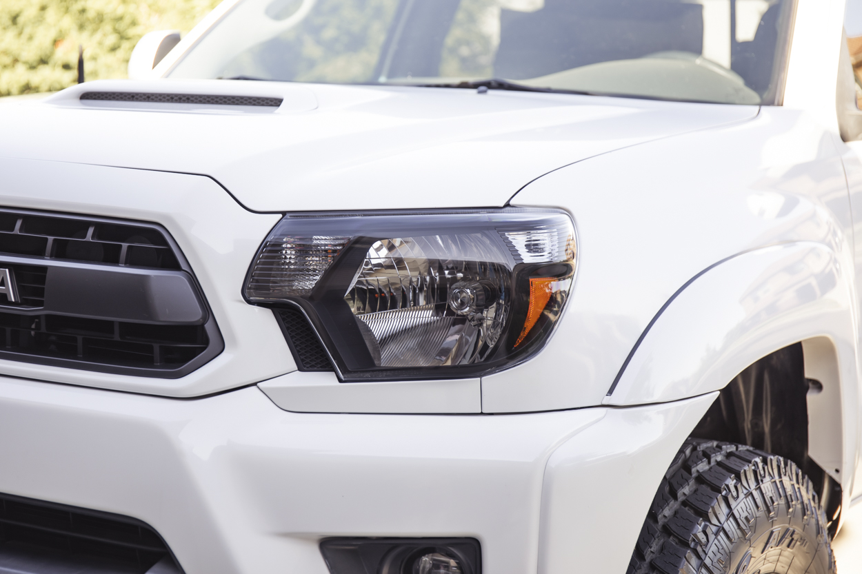 LED Retrofitted USR Auto Blacked Out Headlight Housings for 2nd Gen Tacoma (2012-2015) - SAE / DOT Approved