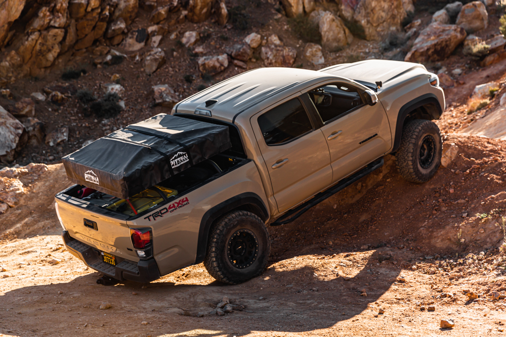Lifted Quicksand 3rd Gen Tacoma with Pittman Outdoor Products Rooftop Tent