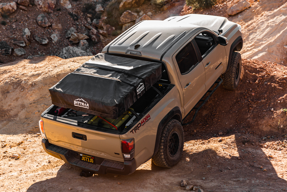 Lifted 3rd Gen Tacoma with RTT & DRT Fabrication Hitch Skid