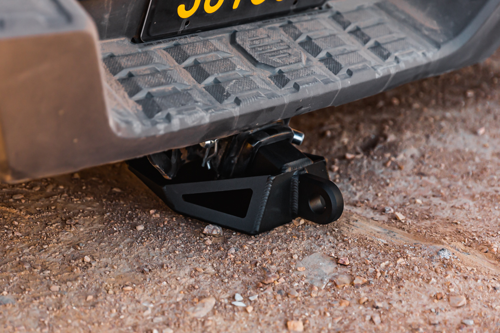 Testing DRT Fabrication Hitch Skid for 3rd Gen Toyota Tacoma