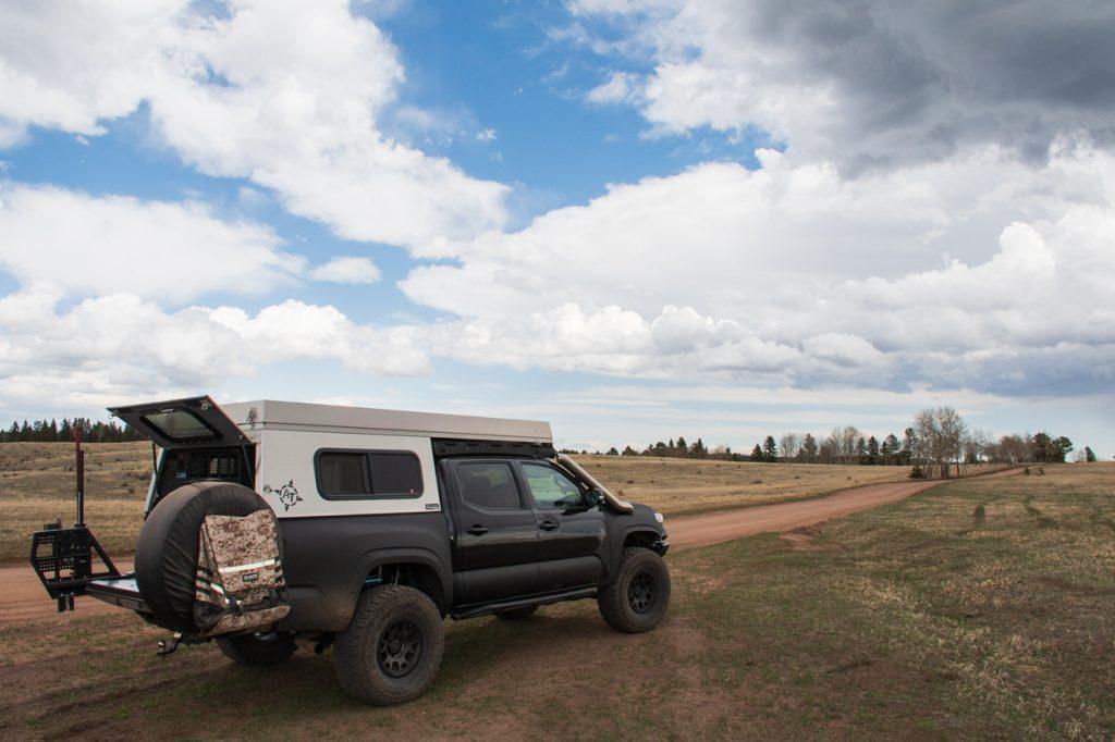 Aluminum Camper for Overland & Off-Road Travel on 3rd Gen Tacoma
