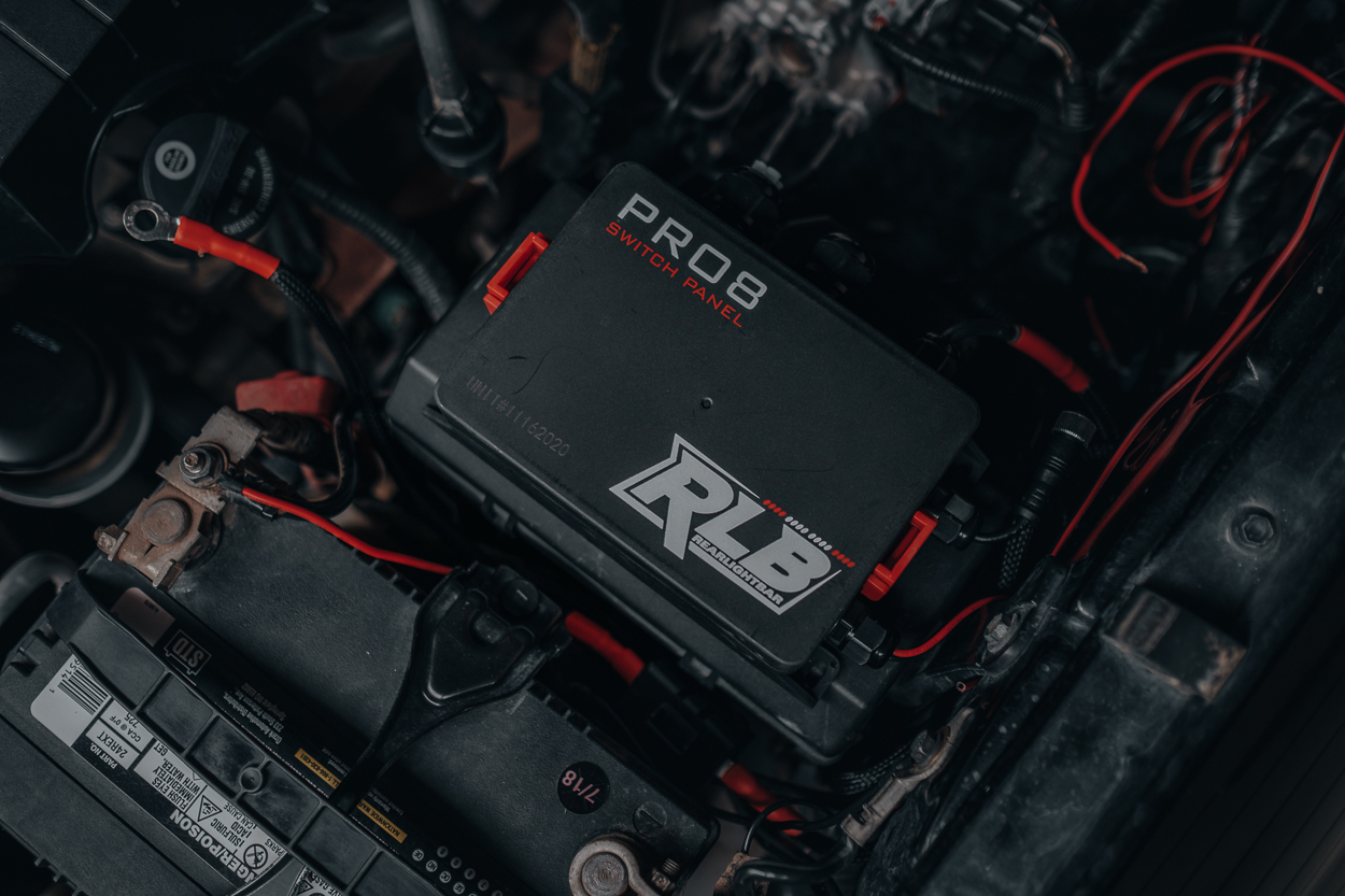 RLB Pro8 Switch Panel Installed in 2nd Gen Toyota Tacoma Engine Bay