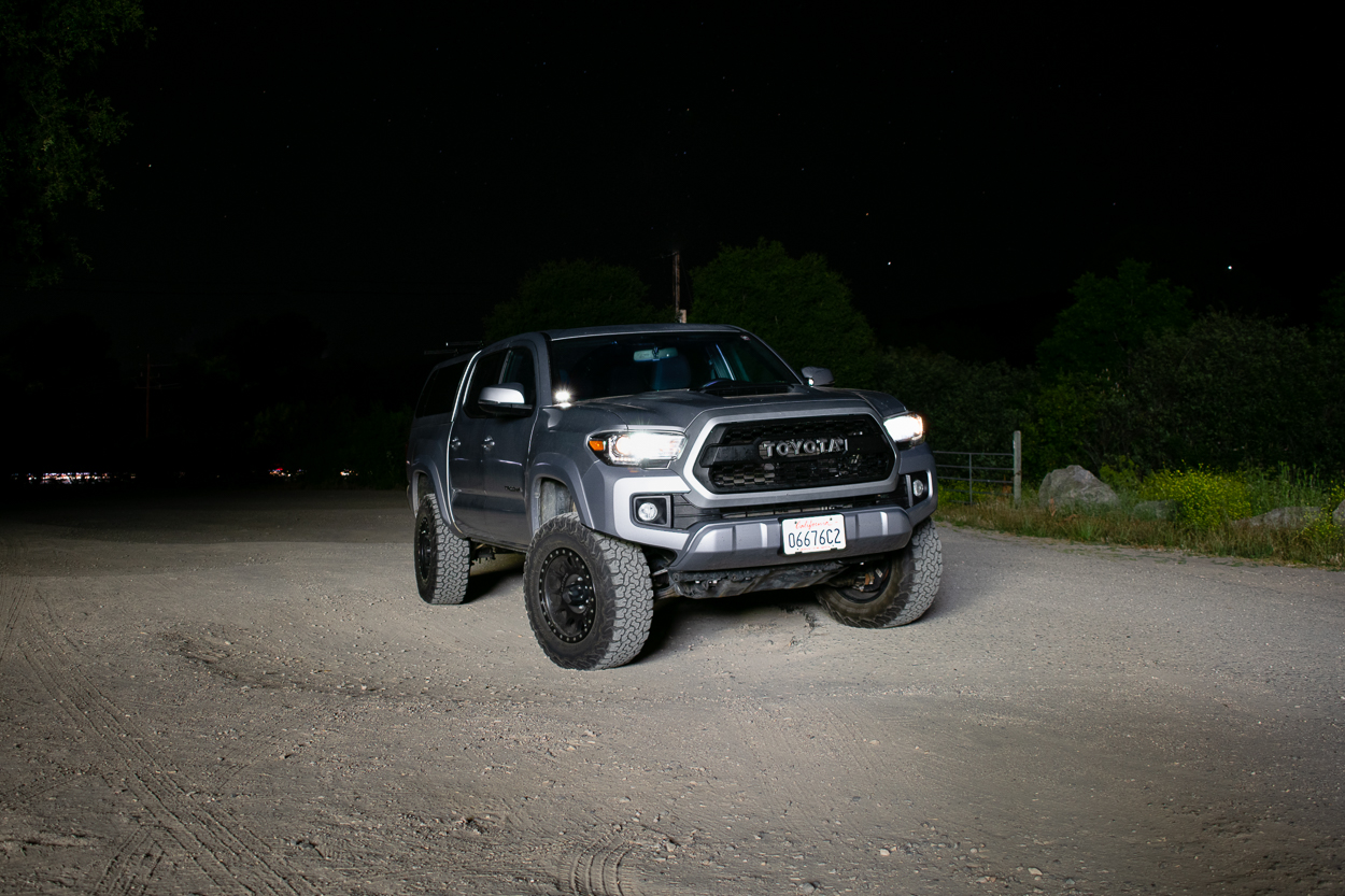 Lifted 3rd Gen Toyota Tacoma with Heretic Studio BA-2 LED Light Pods - Full Review & Overview