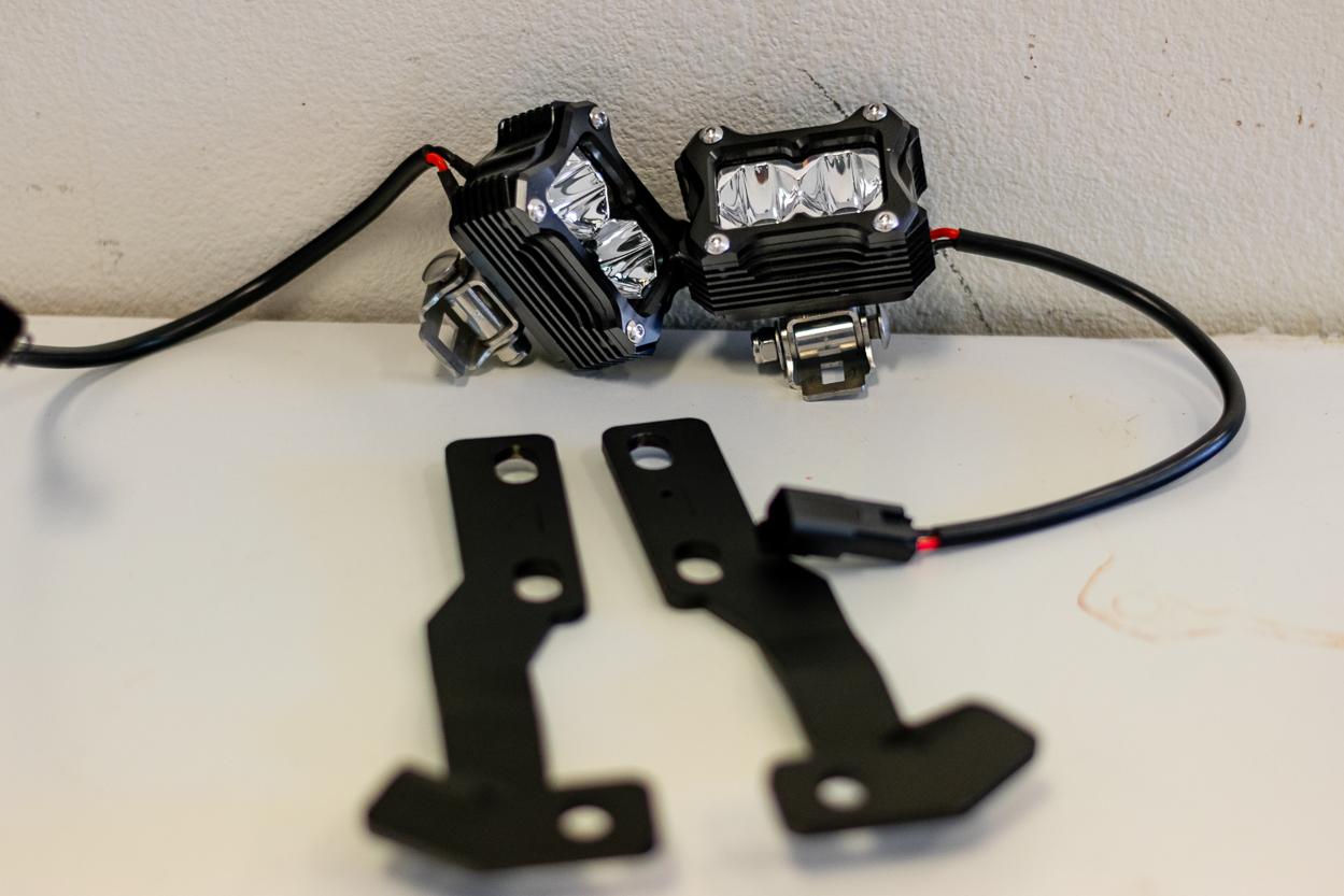 Heretic Studios BA-2 LED Light Pods - Installation on Cali Raised Ditch Light Brackets