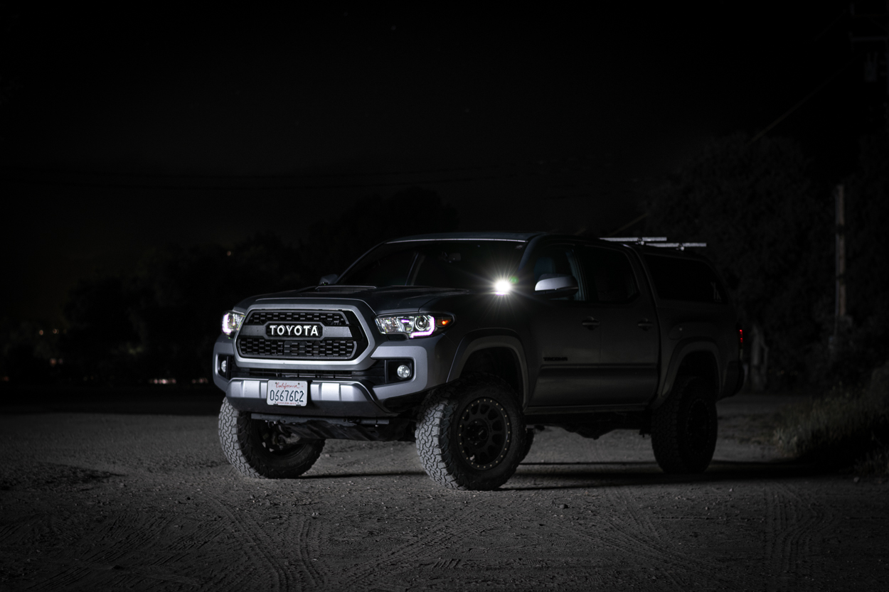 Long Exposure Night Shot - 3rd Gen Toyota with TRD Pro Grille & Heretic Studio BA-2 LED Light Pods