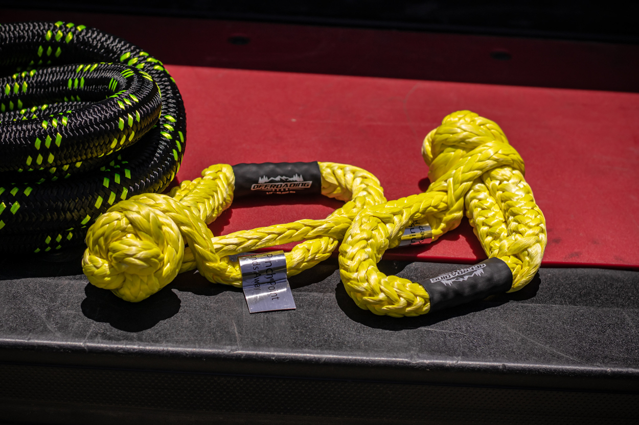 Offroading Gear Yellow Synthetic Soft Rope Shackles for Off-Road & Overland Recovery
