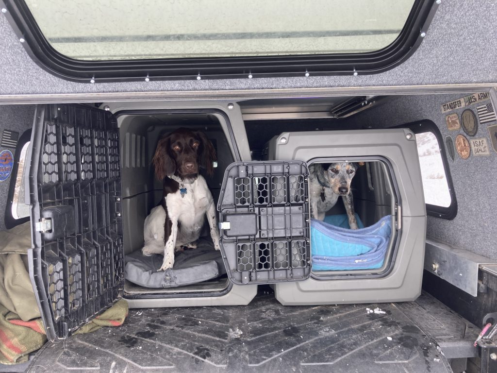 AT Overland Summit Truck Camper with Dog Kennels Inside