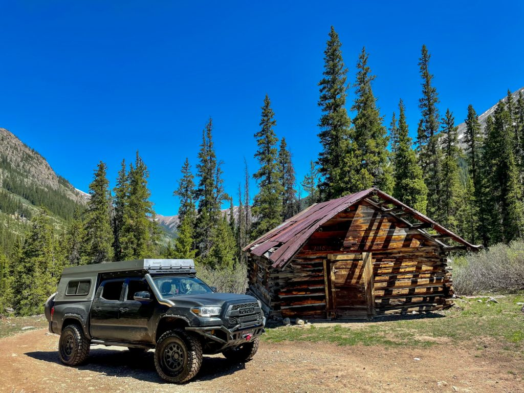 3rd Gen Tacoma with upTOP Overland Roof Rack & AT Overland Summit Truck Camper