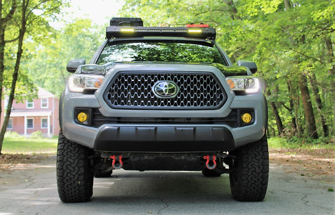 Cement 3rd Gen Toyota Tacoma with BFG AT T/A KO2 Tires