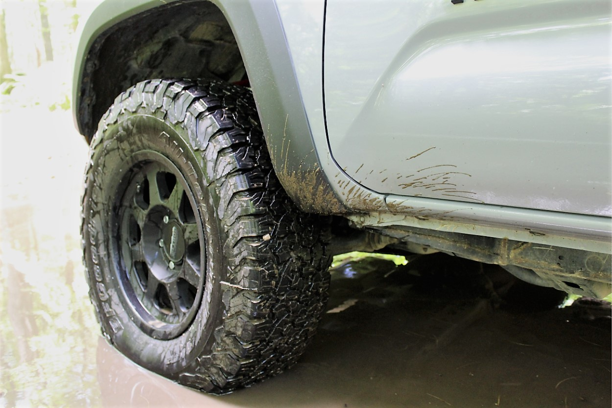 BFG AT T/A KO2 Tires Mounted on Method Race Wheels on 3rd Gen Tacoma