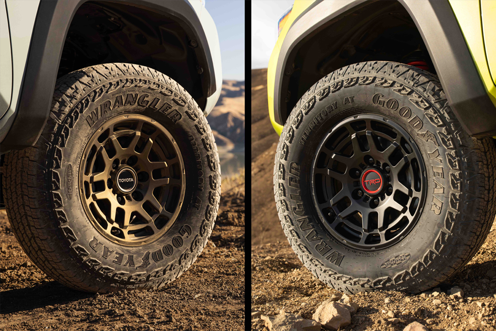 All New 2022 Toyota Tacoma TRD Pro & Trail Edition - Bronze & Black TRD Off-Road/Pro Wheels