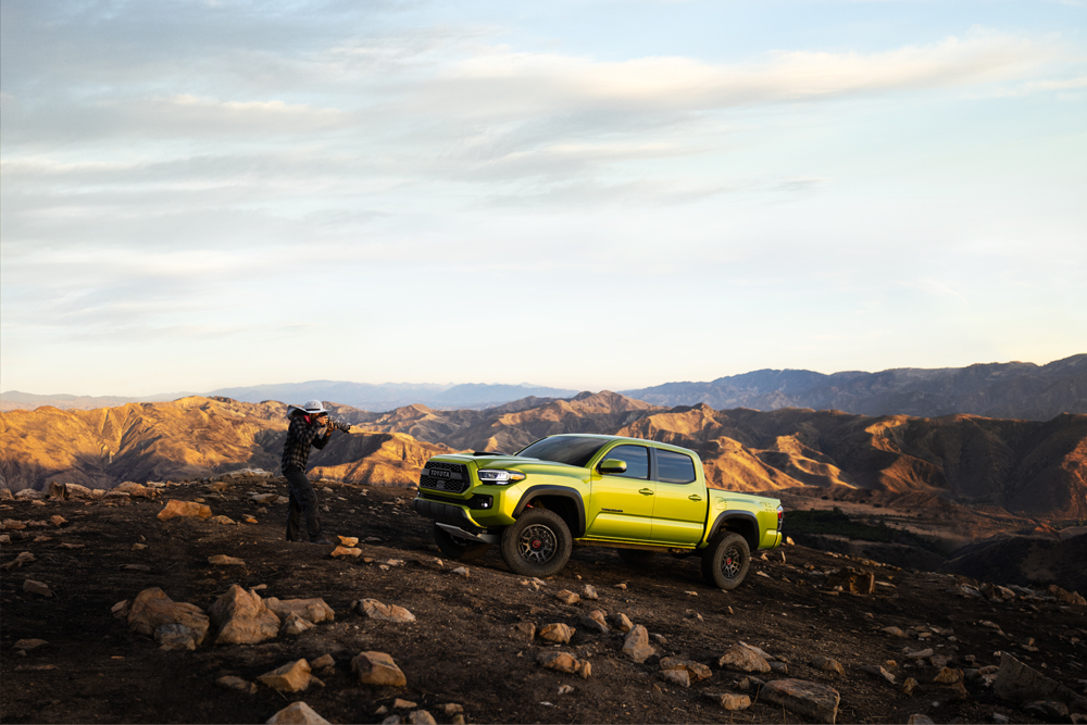 New 2022 TRD Pro 3rd Gen Toyota Tacoma in Electric Lime Metallic