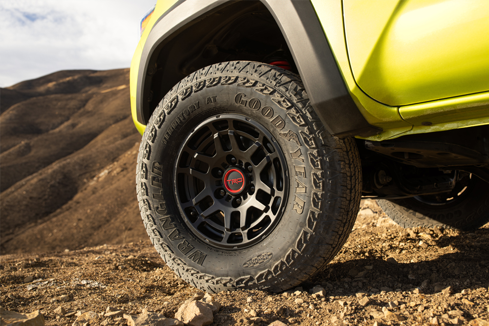 New Tacoma TRD Pro & Trail Edition Rims for 2022 on Electric Lime Metallic TRD Pro Tacoma