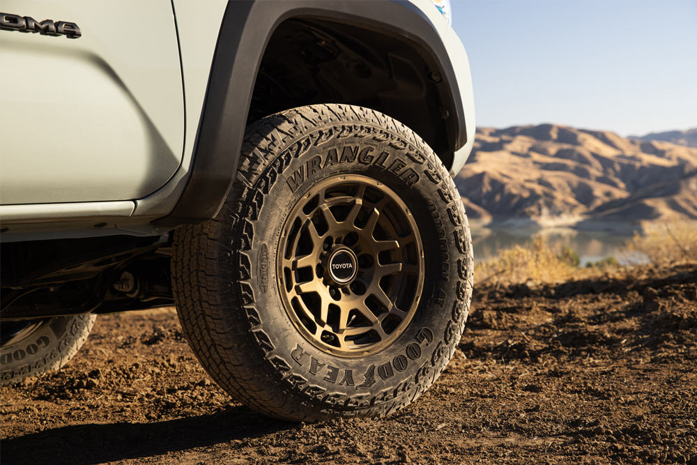 Trail Edition's TRD Pro-Inspired Off-Road Wheels on Lunar Rock 3rd Gen Tacoma