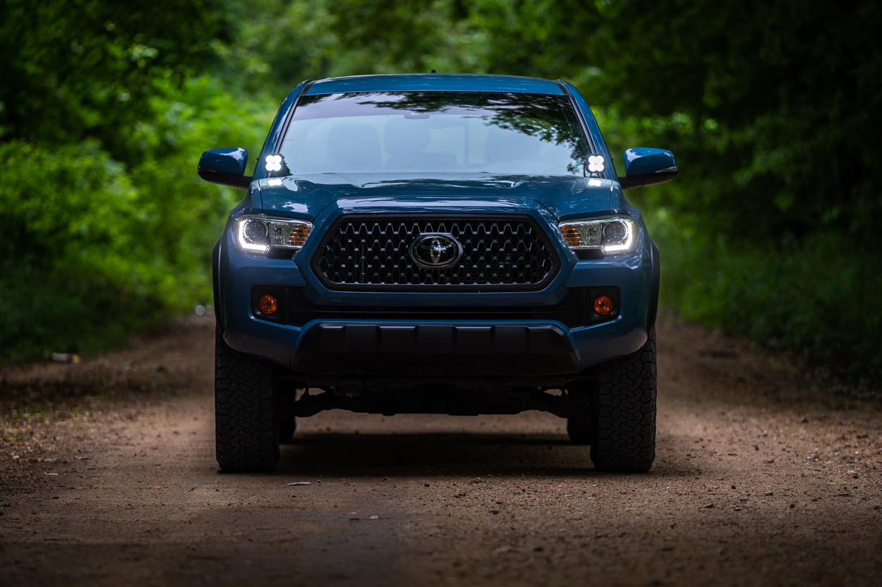 """Cavalry Blue 3rd Gen Toyota Tacoma with Lasfit 3"""" LED Pods"""