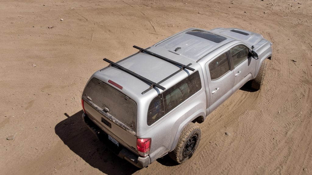 3rd Gen Tacoma with SnugTop Super Sport Truck Bed Topper/Cap with DIY Roof Rack