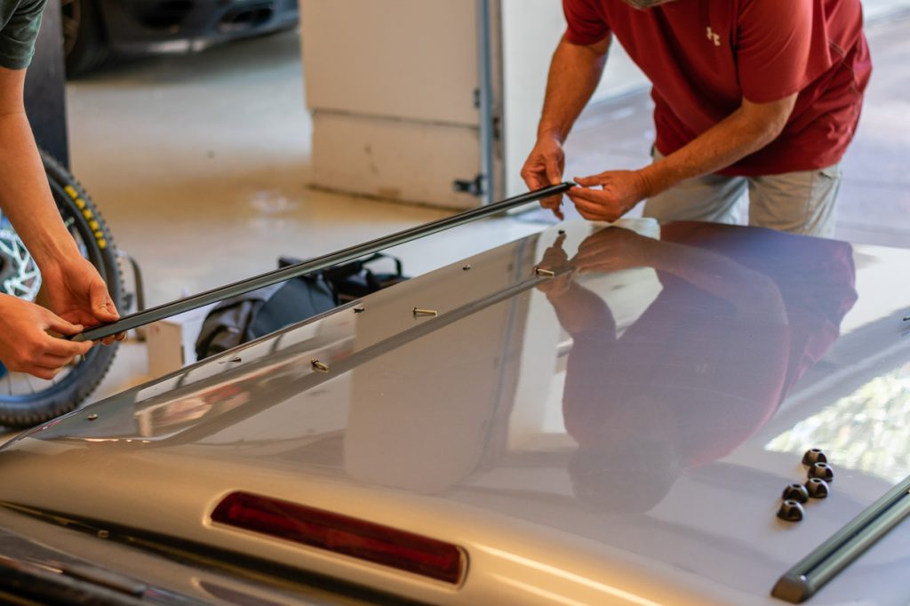 Installing Yakima Roof Rack Mounting Tracks on Truck Bed Topper/Cap