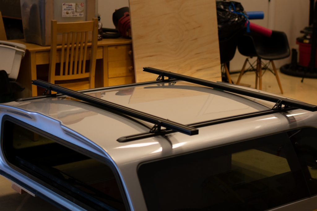 Simple DIY Roof Rack Crossbar System for Truck Bed Topper for Toyota Tacoma