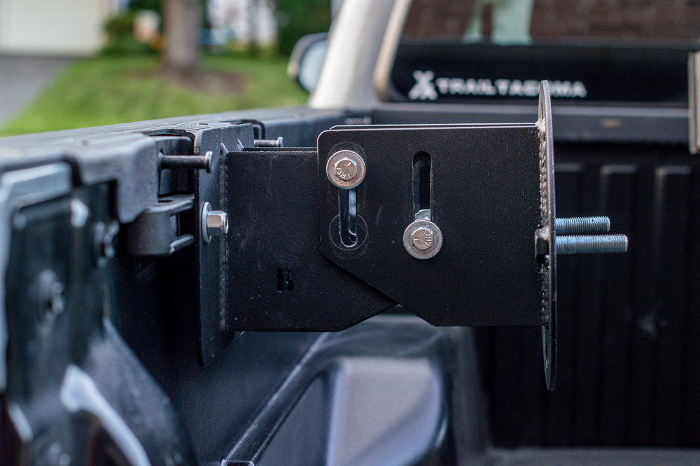 Shoe Rack from Spirit of 1876 Mounted on 3rd Gen Tacoma Truck Bed