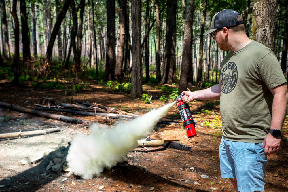 Field Testing Fire Extinguisher on Camp Fire