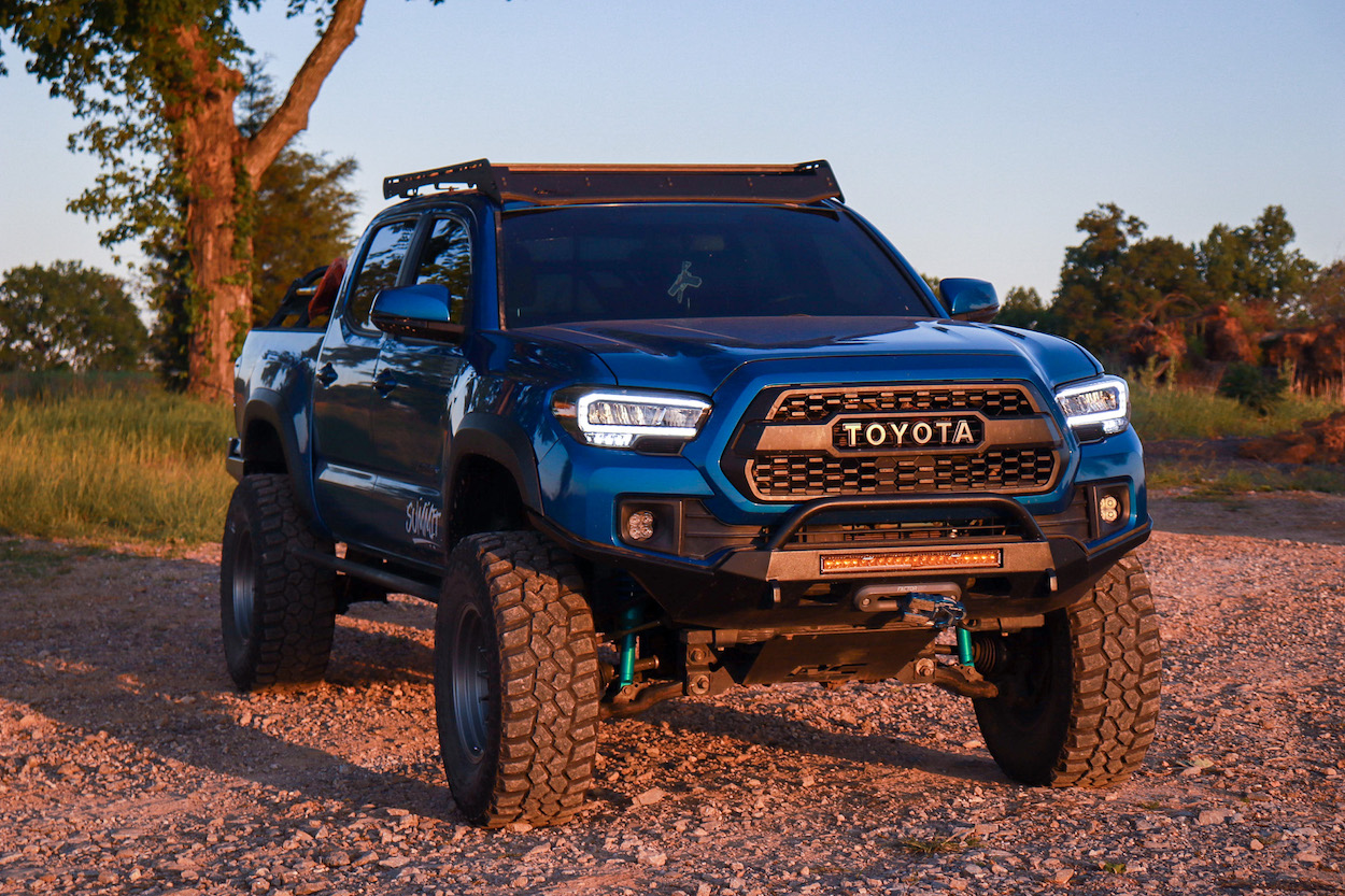 Lifted 3rd Gen Toyota Tacoma with AlphaRex TRD Style LED Headlights