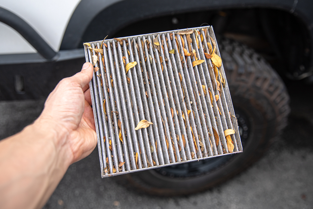 Dirty/Used Cabin Air Filter - 3rd Gen Toyota Tacoma