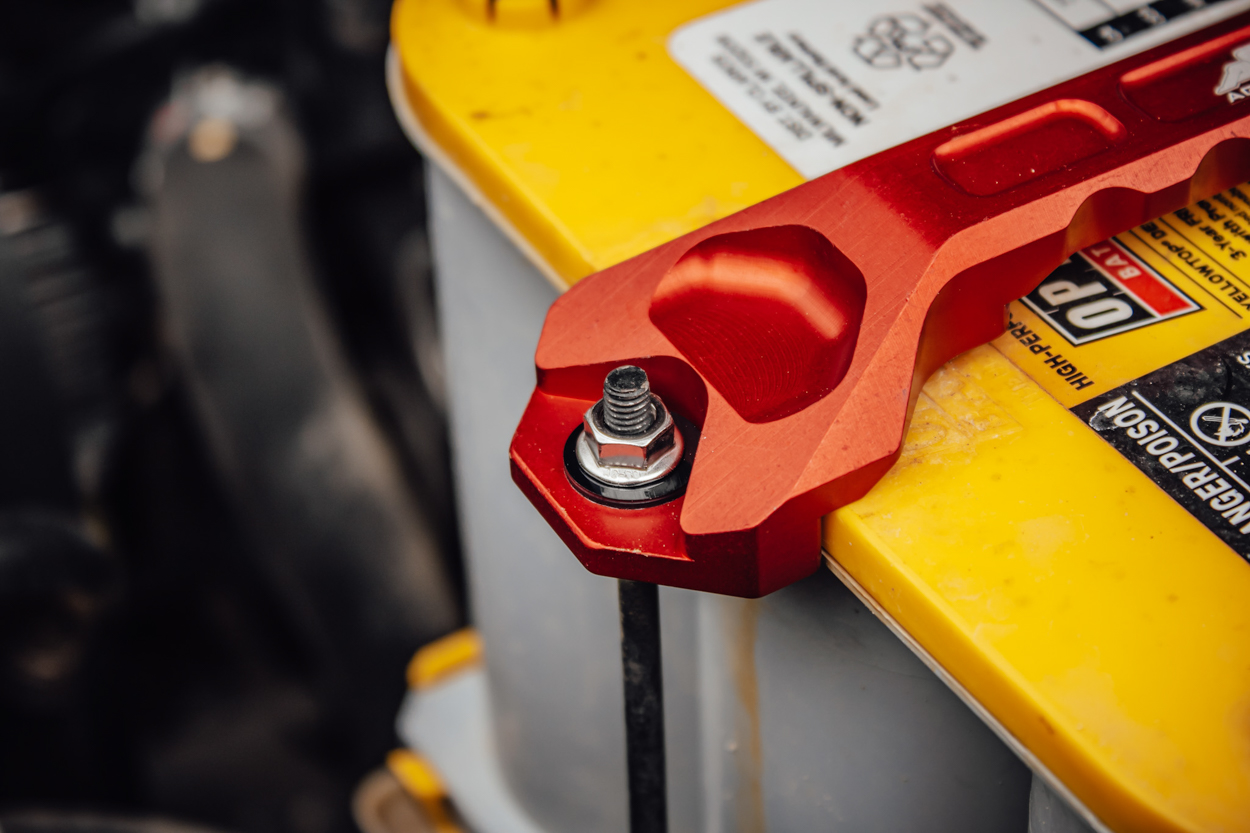 Installing Agency 6 Heavy Duty Aluminum Hold Down Bar on 3rd Gen Toyota Tacoma with AGM Battery