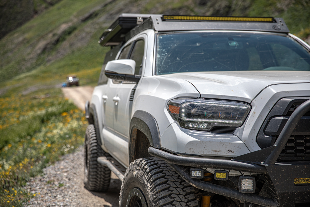 3rd Gen Tacoma with High-Quality Aftermarket Complete Headlight Housing Replacement from AlphaRex