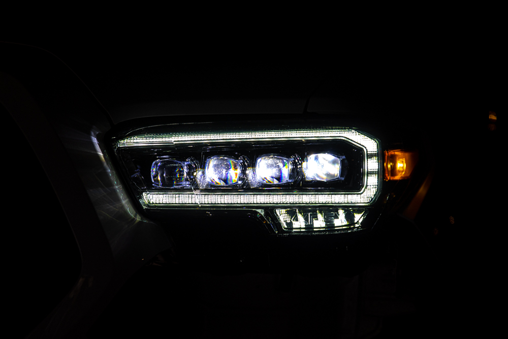 AlphaRex NOVA-Series Alpha Black LED Projector Headlights - Install, Review & Overview for 3rd Gen Tacoma