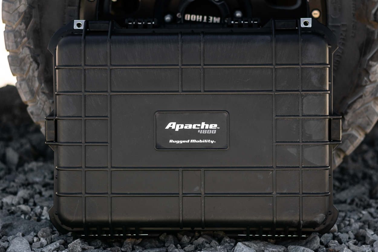 Black Apache 4800 Off-Road & Overland Weatherproof Storage Case with Heavy Duty Latches