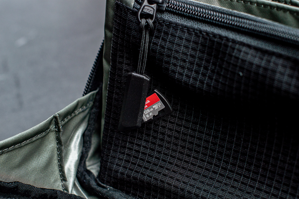 Step22 Tenkile Tech Pouch with YKK Zippers with Slots for SD Memory Cards